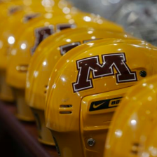 Gophers hockey helmets