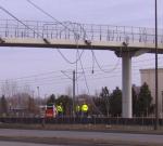 Broken cable on lrt bridge