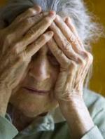 elderly woman Alzheimer's