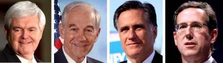 gingrich paul romney santorum