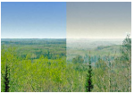 haze over BWCA
