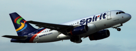 spirit airlines large wide