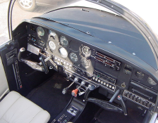 small plane cockpit controls