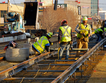 light rail construction