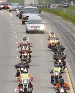 Soldier's motorcade