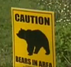 Bears in area sign