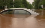 Car in Duluth flood