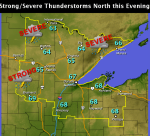 7.22 Duluth weather map