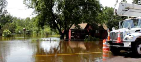 floodwaters in Barnum