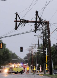 power line storm damage