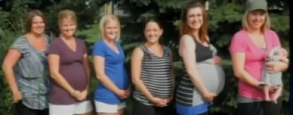 Seven pregnant neighbors