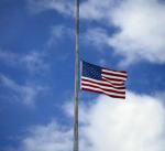 U.S. flag half staff