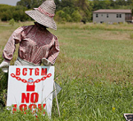 American Crystal Sugar worker lockout sign
