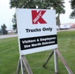 Kmart distribution center sign