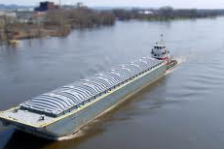 Mississippi River barge
