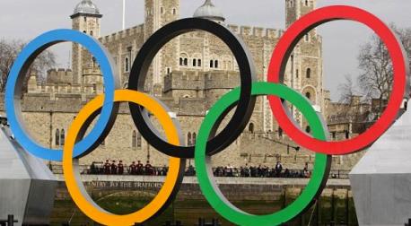Olympic rings in London