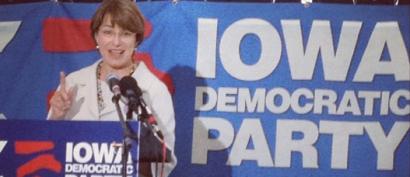 Klobuchar with Iowa Dems