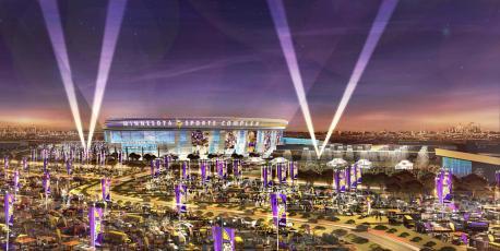 Vikings stadium rendering