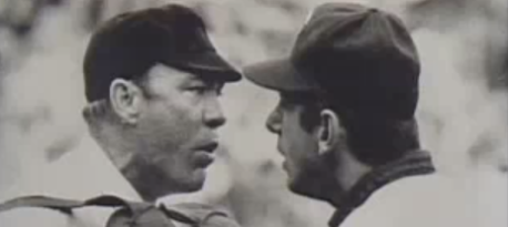 Bill Martin arguing with umpire