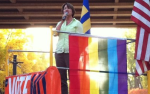 Sen. Amy Klobuchar at Big Gay Race
