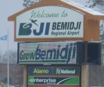 Bemidji airport sign