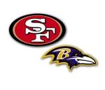49ers Ravens logo