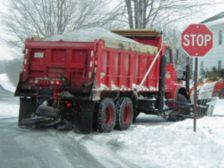 snowplow salt truck