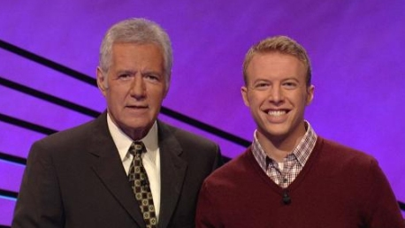 Alex Trebek and Drew Horwood (photo -- Jeopardy Productions)