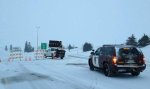 icy roads winter interstate patrol