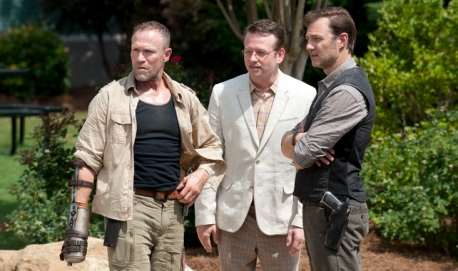 Michael Rooker, Dallas Roberts and David Morrisey in 'The Walking Dead' (photo -- AMC)