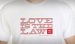 Love is the Law T-shirt logo