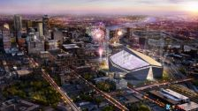 Vikings Stadium Night