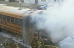 Cloquet Middle School bus fire (photo -- Northland's News Center)