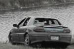 pond crash car (green)