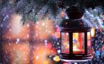 light snow Christmas lights