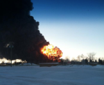 N.D. train derailment fire