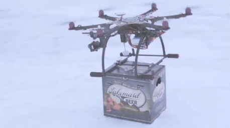 beer delivering drone