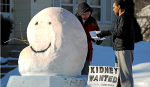 kidney snow sculpture