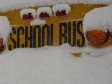 school bus snow GREEN