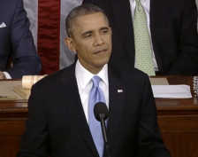 SOTU President Obama (W.H. Screen shot-GREEN) 2014-01-28 at 9.12.14 PM