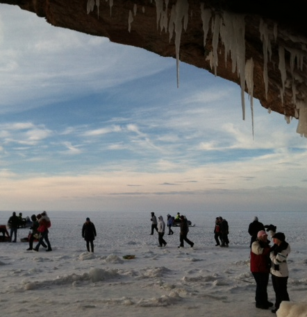 ice cave crowd