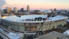 metrodome blown up