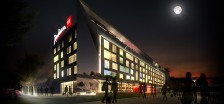 Concept of a Radisson Red hotel.