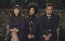 Zooey Deschanel, Prince and Jake Johnson in 'New Girl' (photo -- Fox)