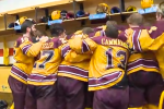 Gopher Hockey locker room celebration (Screen Shot) 2014-04-11 at 2.58.49 PM