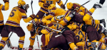 Gophers celebrate (Minnesota Gophers Twitter) 2014-04-10 at 10.46.48 PM