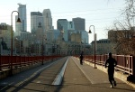 minneapolis runner jogger exercise stone arch bridge