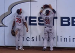 Santana and Arcia against the wall 2014-06-02 at 9.11.32 PM