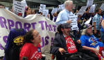 msp, airport, protest, wheelchair, seiu