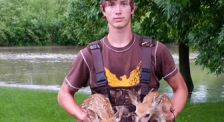 teen with deer